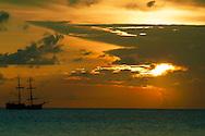 Pirate Ship at Sunset Grand Cayman