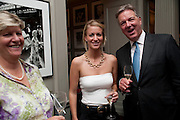 PENELOPE JOHNSON; LUCY JOHNSON; STUART JOHNSON, MANAGING DIRECTOR BROWN'S HOTEL. Diana Donovan, Olga Polizzi, Stuart Johnson host a cocktail reception to celebrate the publication of a Monograph of the Donovan Bar Photographs in the Donovan Bar at Brown's Hotel. Albermarle St. London. 8 September 2009.