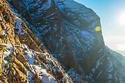 Cheri Smith and Eilssa McConkie hiking down from Willard Falls, Willard, Utah.