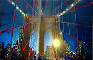 NYC in Colors.  Horn/Andersen<br /> Trapped in Brooklyn Bridge	130x200 SOLGT <br /> Dato  27.01.15<br /> Foto:  Lars Horn / Baghuset