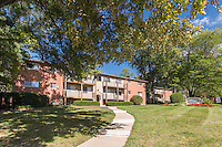 Exterior image of Layton Hall Apartments in Fairfax Virginia by Jeffrey Sauers of Commercial Photographics, Architectural Photo Artistry in Washington DC, Virginia to Florida and PA to New England