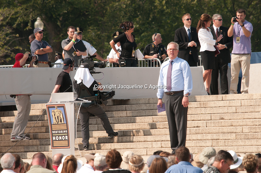 """Washington DC Glen Beck Rally Restoring Honor on the steps of the Lincoln Memorial on the anniversary of the Martin Luther King's """"I Have A Dream"""" speech"""