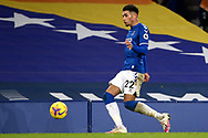 Everton defender Ben Godfrey (22) during the Premier League match between Everton and West Ham United at Goodison Park, Liverpool, England on 1 January 2021.