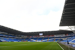 A general view of the Cardiff City Stadium during the Premier League match at the Cardiff City Stadium.