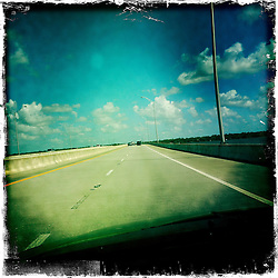 View of a highway. Orlando holiday 2012. Photo taken with the Hipstamatic photo application on Apple iPhone 4.