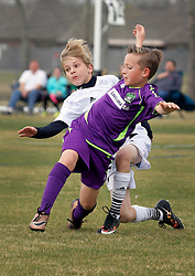 28 February 2016. Burbank Soccer Complex, Baton Rouge, Louisiana.<br /> New Orleans Jesters Youth Academy U10 Purple vs BRSC Brizuela. Jesters lose 1-9.<br /> Photo©; Charlie Varley/varleypix.com
