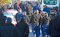 ©Licensed to London News Pictures 10/09/2020  <br /> Orpington, UK. Police search teams arrive in large numbers this morning. Police patrolling the site. Police continue to search a traveller site in Orpington, South East London today after one of the biggest armed police operations in the UK. The site and local roads are under Met police control with a large cordon in place. Photo credit:Grant Falvey/LNP