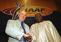 v.l. VizeprŠsident  Helmut DIGEL , PrŠsident Lamine DIACK      <br />                 Leichtathletik   IAAF