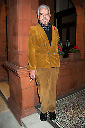 NICKY HASLAM at a reception to celebrate the publication of Quicksilver by HRH Princess Michael of Kent held at the home of Richard & Basia Briggs, 35 Sloane Gardens, London on 9th November 2015.