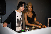 Talula Adeyemi; Nat Weller, Celebrate the second guest editors issue. Pre-launch of  Paramount at Centrepoint.London 16 September 2008. *** Local Caption *** -DO NOT ARCHIVE-© Copyright Photograph by Dafydd Jones. 248 Clapham Rd. London SW9 0PZ. Tel 0207 820 0771. www.dafjones.com.