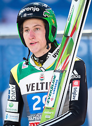 06.01.2015, Paul Ausserleitner Schanze, Bischofshofen, AUT, FIS Ski Sprung Weltcup, 63. Vierschanzentournee, Finale, im Bild Nejc Dezman (SLO) // Nejc Dezman of Slovenia reacts after his first Final Jump of 63rd Four Hills Tournament of FIS Ski Jumping World Cup at the Paul Ausserleitner Schanze, Bischofshofen, Austria on 2015/01/06. EXPA Pictures © 2015, PhotoCredit: EXPA/ Johann Groder