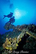 Butch Hendrick and Karen Van Hoesen <br /> inspect old anchor, St. Kitts, <br /> ( Eastern Caribbean Sea ) MR 134 MR 135