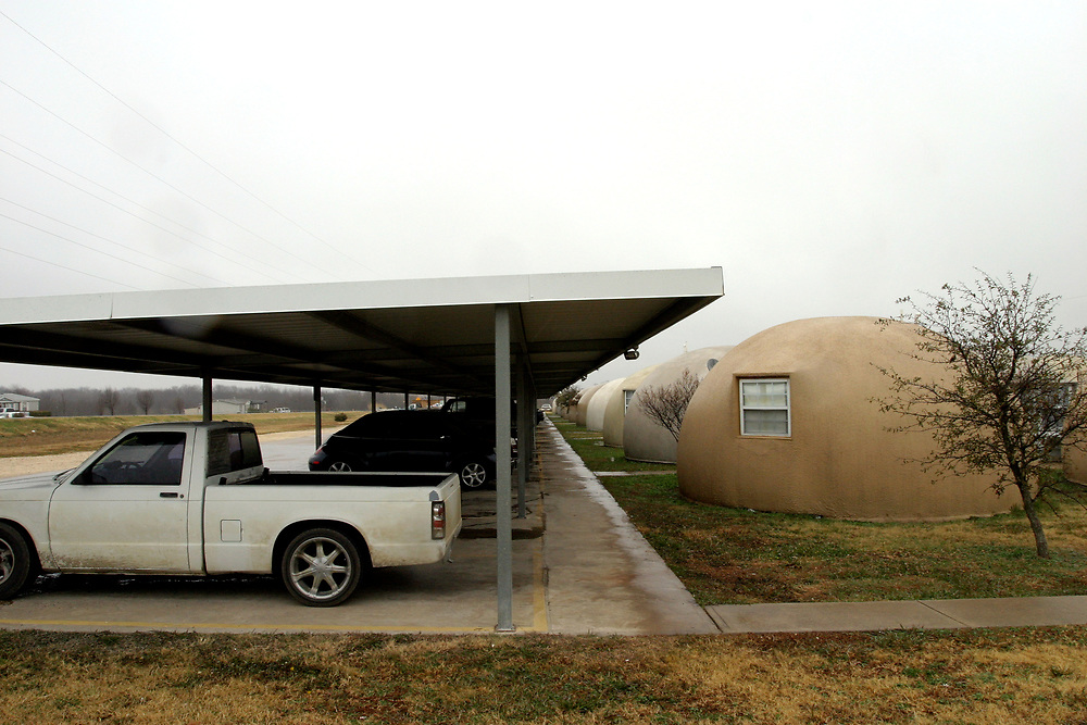 Monolithic Dome Village, Central Texas between Waco and Waxahachie, USA