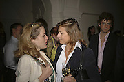 Gillian Anderson and Alison Jackson, VIP opening of Bill Viola exhibition Love/Death: The Tristan project. Haunch of Venison, St Olave's College, Tooley St. London and Dinner afterwards at Banqueting House. Whitehall. 19 June 2006. ONE TIME USE ONLY - DO NOT ARCHIVE  © Copyright Photograph by Dafydd Jones 66 Stockwell Park Rd. London SW9 0DA Tel 020 7733 0108 www.dafjones.com