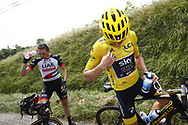 Geraint Thomas (GBR - Team Sky) Yellow jersey during the 105th Tour de France 2018, Stage 16, Carcassonne - Bagneres de Luchon (218 km) on July 24th, 2018 - Photo Luca Bettini / BettiniPhoto / ProSportsImages / DPPI