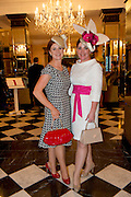 Cathy Dylan, Athenry and Cathriona King, Galway<br />  at the Hotel Meyrick Most Stylish Lady event on ladies day of The Galway Races. Photo:Andrew Downes