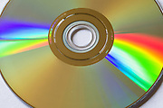 DVD disk light refraction <br /> <br /> Editions:- Open Edition Print / Stock Image