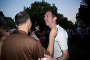 DARREN LEADER; MARTIN CREED, Tate Britain Summer Party 2009. Millbank. London. 29 June 2009