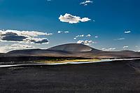 A crater from the eruptions Vatnaöldur, by the cluster of lakes Veiðivötn