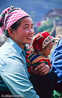 The colourful ethnic minorities of northern Vietnam include the Flower Hmong and Black Hmong, who commonly dressed in traditional clothing in villages and rural areas.<br /> <br /> Images in this gallery were taken using film and are presented in small, low resolution files - high resolution scans or the original slide/negative are also available.