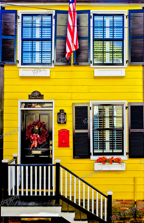 Clorful Annapolis Home along Pinkney street