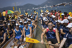 May 30, 2017 - Hong Kong, Hong Kong - People participate in the Dragon Boat race held in the Dragon Boat Festival in Stanley. The Dragon Boat Festival, is a traditional festival originating in China, occurring near the summer solstice. Some of the participants dress special costumes in the race to celebrate the festival. (Credit Image: © Chan Long Hei/Pacific Press via ZUMA Wire)