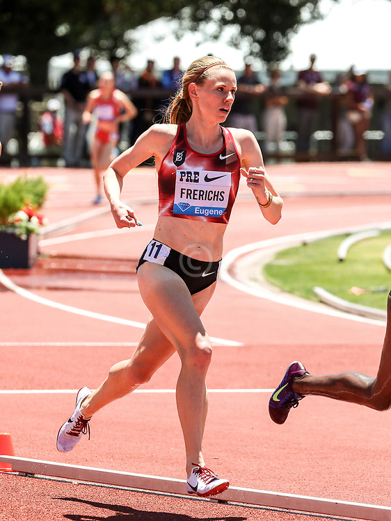 Courtney Frerichs, Bowerman Track Club, USA, races in womens 3000 meters steeplchase at 2019 The Prefontaine Classic Track & Field<br /> IAAF Diamond League