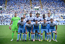 October 7, 2018 - Rome, Italy - Lazio players before the Italian Serie A football match between S.S. Lazio and Fiorentina at the Olympic Stadium in Rome, on october 07, 2018. (Credit Image: © Silvia Lore/NurPhoto/ZUMA Press)