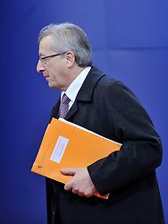 Jean-Claude Juncker, Luxembourg's prime minister, arrives for the European Union Summit at the EU headquarters in Brussels, Belgium, on Thursday, Nov. 19, 2009. European leaders will try to set divisions aside today as they choose their first-ever European Union president to represent the 27-nation bloc on the world stage. (Photo © Jock Fistick)