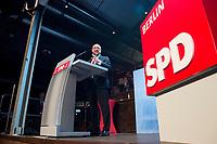 22 MAR 2017, BERLIN/GERMANY:<br /> Martin Schulz, SPD Parteivorsitzender und Spitzenkandidat der SPD zur Bundestagswahl, haelt eine Rede auf dem Neumitgliedertreffen der Berliner SPD, Festsaal Kreuzberg<br /> IMAGE: 20170322-02-111<br /> KEYWORDS: Martin Schulz, speech, Kanzlerkandidat, candidate