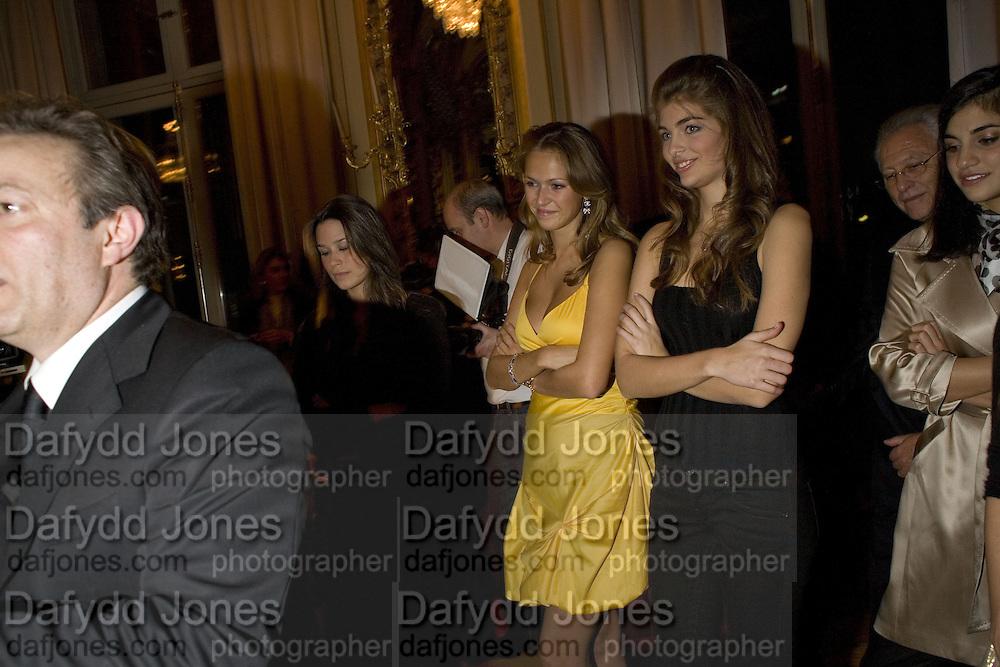 REBECCA VON MEISTER, Crillon Debutante Ball 2007, DRINKS DAY BEFORE.  BACCARAT. Paris. -DO NOT ARCHIVE-© Copyright Photograph by Dafydd Jones. 248 Clapham Rd. London SW9 0PZ. Tel 0207 820 0771. www.dafjones.com.