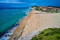France, Pyrénées-Atlantiques (64), Pays Basque, Guéhtary, plage de l'Uhabia // France, Pyrénées-Atlantiques (64), Basque Country, Guéthary, Uhabia beach