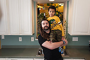 BALTIMORE, MD -- 12/22/14 -- Benjamin Jancewicz, 31, a designer from Baltimore, with his son, Arion Jancewicz, 6, talks about the complexity of being a biracial family.…by André Chung #_AC23617