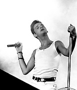 David Gahan of Depeche Mode, photographed at Pasadena Rose Bowl, June 1988.