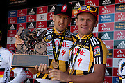 during the final stage (stage 7 ) of the 2011 Absa Cape Epic Mountain Bike stage race held from Oak Valley to Lourensford, South Africa on the3rd April  2011..Photo by Greg Beadle/Cape Epic/SPORTZPICS