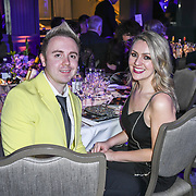 John Galea, Larissa Eddie attend The Music Producers Guild Awards at Grosvenor House, Park Lane, on 27th February 2020, London, UK.