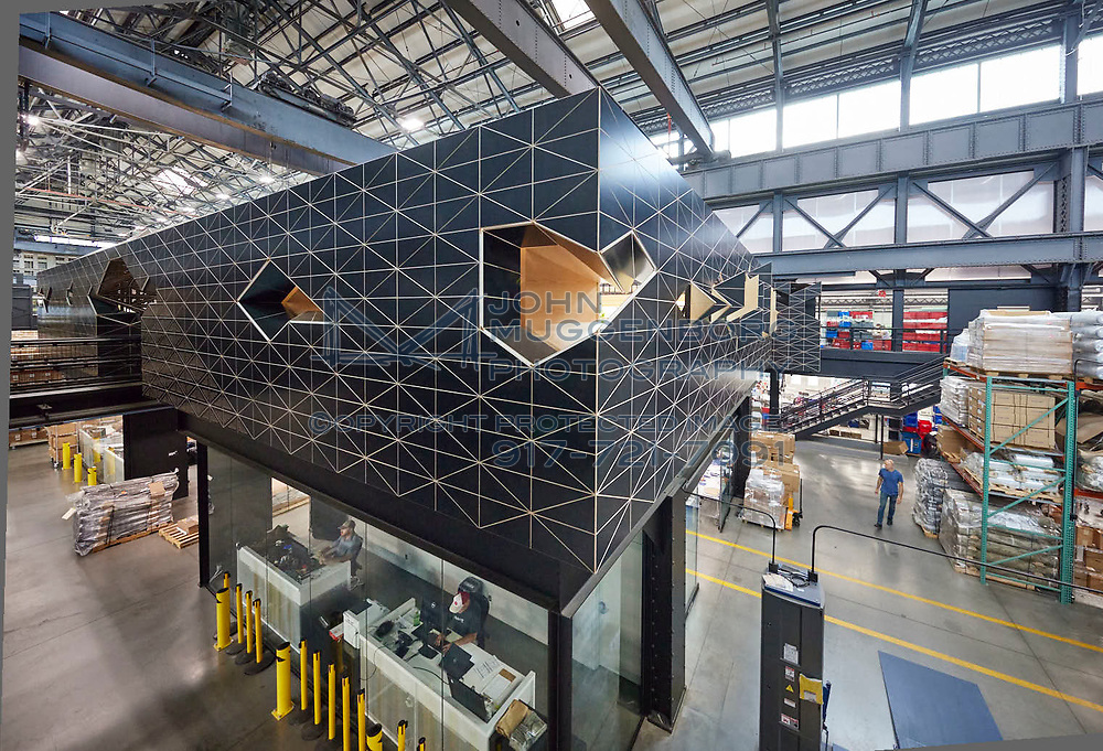 Crye Precision Headquarters in Brooklyn designed by Camber Studios. Photograph by ©John Muggenborg.