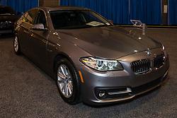 CHARLOTTE, NORTH CAROLINA - NOVEMBER 20, 2014: BMW 528i sedan on display during the 2014 Charlotte International Auto Show at the Charlotte Convention Center.