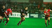 Gloucester, Gloucestershire, UK., 23rd December 2000,  Kingsholm Stadium, Zurich Premiership Rugby, Gloucester Rugby vs Newcastle Falcon, <br /> <br /> Newcastle's, Jonny Wilkinson, runs at the Gloucester defence,<br /> [Mandatory Credit: Peter Spurrier/Intersport Images],