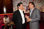 BERNARD HENG; RICHIE NOTAR; , The Tomodachi ( Friends) Charity Dinner hosted by Chef Nobu Matsuhisa in aid of the Japanese Tsunami Appeal. Nobu Park Lane. London. 4 May 2011. <br /> <br />  , -DO NOT ARCHIVE-© Copyright Photograph by Dafydd Jones. 248 Clapham Rd. London SW9 0PZ. Tel 0207 820 0771. www.dafjones.com.