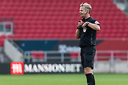 Referee Chris Sarginso in action during the EFL Cup match between Bristol City and Exeter City at Ashton Gate, Bristol, England on 5 September 2020.