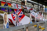 Fan flags and cardboard cut outs prior to the EFL Sky Bet League 1 match between Bristol Rovers and Ipswich Town at the Memorial Stadium, Bristol, England on 19 September 2020.