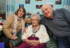 Scottish woman celebrates 109th birthday, Broxburn, 26 March 2019
