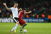 João Moutinho of Portugal, during the match against Austria, valid for the European Championship Group F 2016 in the Parc des Princes stadium in Paris on Saturday 18. The game ended 0 to 0.