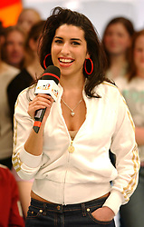 Singer Amy Winehouse during her guest appearance on MTV's TRL UK at the MTV Studios in Camden, north London. Amy released her latest single 'In My Bed' on Monday.