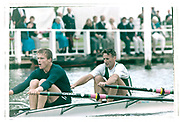 Henley on Thames, England, 1999 Henley Royal Regatta, River Thames, Henley Reach,  [© Peter Spurrier/Intersport Images],   Double Sculls Challenge Cup Bow Seat Peter HAINING,