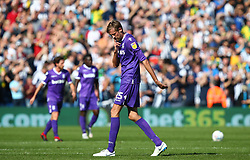 Stoke City's Peter Crouch reacts after his side conceded their second goal of the game