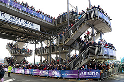 A genneral view as fans await the team's arrival before the NatWest 6 Nations match at BT Murrayfield, Edinburgh.