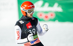 Markus Eisenbichler (GER) celebrates during the 1st Round of the Ski Flying Hill Individual Competition at Day 2 of FIS Ski Jumping World Cup Final 2019, on March 22, 2019 in Planica, Slovenia. Photo by Vid Ponikvar / Sportida