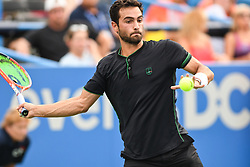 August 2, 2018 - Washington, D.C, U.S - NOAH RUBIN hits a forehand during his 2nd round match at the Citi Open at the Rock Creek Park Tennis Center in Washington, D.C. (Credit Image: © Kyle Gustafson via ZUMA Wire)